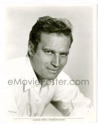 8h197 CHARLTON HESTON deluxe 8.25x10 still '53 great head & shoulders portrait early in his career!