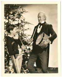8h200 CHRISTMAS CAROL 8x10.25 still '38 Terry Kilburn laughing & playing w/ Reginald Owen's drum!