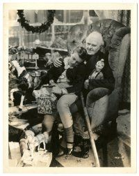 8h199 CHRISTMAS CAROL 8x10.25 still '38 c/u of Terry Kilburn asleep in Reginald Owen's lap!