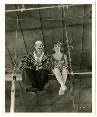 8h203 CIRCUS CLOWN 8.25x10 still '34 Patricia Ellis & Westcott in clown makeup on scaffolding!