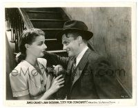 8h206 CITY FOR CONQUEST 8x10.25 still '40 James Cagney smiles at sexy Ann Sheridan by stairs!