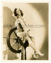 8h208 CLARA BOW 8.25x10 still '30 the IT Girl on ship's wheel by Gene Richee from True to the Navy!