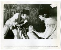 8h217 CLOCKWORK ORANGE deluxe 8x10 still '72 Kubrick, Malcolm McDowell confronts his gang-mates!