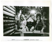 8h216 CLOCKWORK ORANGE 8x10 still '72 Malcolm McDowell with pretty girls at record store!