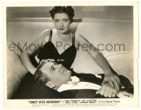8h223 COMET OVER BROADWAY 8x10.25 still '38 c/u of Ian Hunter laying on sexy Kay Francis' lap!