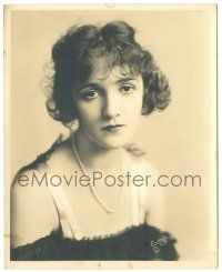 8h228 CONSTANCE TALMADGE deluxe 8x10 still '20s pensive portrait wearing pearls by Evans of L.A.!