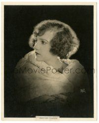 8h227 CONSTANCE TALMADGE deluxe 8x10 still '20s great c/u wrapped in fur by Puffer of New York!