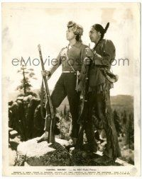 8h234 DANIEL BOONE 8x10.25 still '36 George O'Brien in coonskin cap with rifle & Native American!