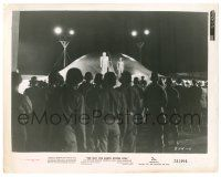 8h242 DAY THE EARTH STOOD STILL 8x10.25 still '51 crowd watches Michael Rennie & Gort on UFO!