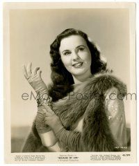 8h245 DEANNA DURBIN 8.25x10 still '45 glamorous portrait of the pretty star from Because of Him!