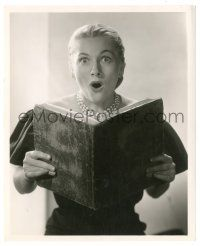 8h248 DECAMERON NIGHTS 8.25x10 still '53 shocked Joan Fontaine holding book by Ernest A. Bachrach!