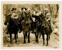 8h252 DEVIL'S BROTHER 8.25x10.25 still '33 Laurel & Hardy robbed by masked bandits on horseback!
