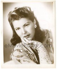 8h254 DIANA BARRYMORE 8.25x10 still '40s wonderful close up of the pretty star in jeweled dress!