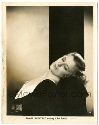 8h255 DIANA WYNYARD 8x10.25 still '30s sexy close portrait with her eyes closed by Hal Phyffe!