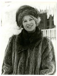 8h259 DOCTOR ZHIVAGO 7.75x10.25 still '65 David Lean epic, c/u of Julie Christie wearing fur coat!