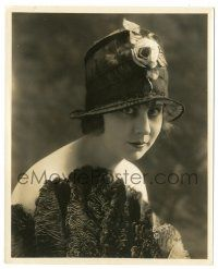8h267 DOROTHY DALTON 8x10 still '20s sexy head & shoulders portrait in great hat by Evans of L.A.!