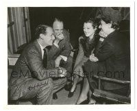 8h003 DOUGLAS FAIRBANKS JR signed 8.25x10 still '38 laughing w/ Roland Young & Janet Gaynor!