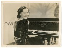 8h474 DOROTHY SEBASTIAN 8x10.25 still '31 the beautiful actress learned piano for Lightning Flyer!