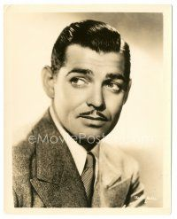 8h209 CLARK GABLE 8x10 still '35 great head & shoulders portrait wearing suit & tie!