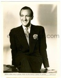 8h237 DAVID NIVEN 8x10.25 still '39 smiling portrait in suit & tie from Bachelor Mother!
