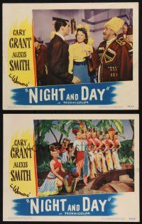 8y985 NIGHT & DAY 2 LCs '46 Cary Grant as Cole Porter with Ginny Simms and Monty Woolle!