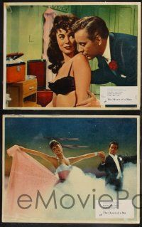 8y912 HEART OF A MAN 3 English LCs '59 Frankie Vaughan, sexy Anne Heywood, gambling!
