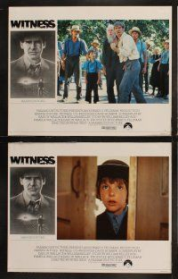 8y674 WITNESS 8 English LCs '85 cop Harrison Ford in Amish country, directed by Peter Weir!