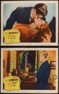 8y909 GILDA 3 LCs R59 romantic images of Glenn Ford & sexy Rita Hayworth, w/ George Macready!