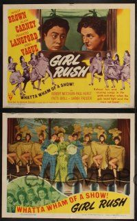 8y250 GIRL RUSH 8 LCs '44 Wally Brown, Alan Carney, Frances Langford & sexy showgirls!