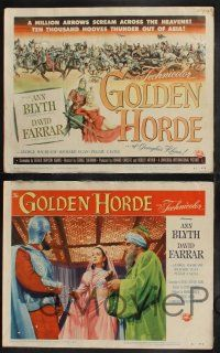 8y255 GOLDEN HORDE 8 LCs '51 David Farrar, Richard Egan & sexy Ann Blyth!