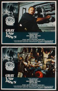 8y855 GRAY LADY DOWN 4 LCs '78 cool images of Charlton Heston, David Carradine, Ned Beatty!