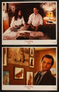 8y262 GROUNDHOG DAY 8 LCs '93 Bill Murray, Andie MacDowell, Chris Elliott, directed by Harold Ramis!