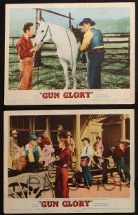 8y800 GUN GLORY 5 LCs '57 Stewart Granger is faster than the fastest gun alive, Rhonda Fleming!