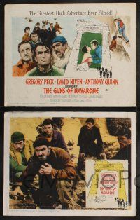 8y264 GUNS OF NAVARONE 8 LCs '61 David Niven, Anthony Quinn, Gregory Peck, Gia Scala