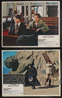 8y910 HAROLD & MAUDE 3 LCs '71 wonderful images of Ruth Gordon & Bud Cort, Ashby classic!