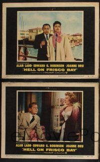 8y274 HELL ON FRISCO BAY 8 LCs '56 Alan Ladd, Edward G. Robinson & Joanne Dru!