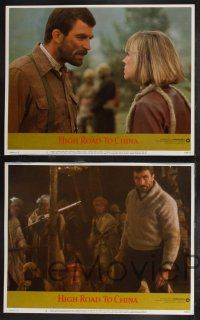 8y278 HIGH ROAD TO CHINA 8 LCs '83 images of aviator Tom Selleck & Bess Armstrong!