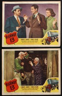 8y741 HIGHWAY 13 6 LCs '49 Robert Lowery, Pamela Blake, Michael Whalen, hell on wheels!