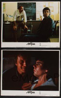 8y280 HITCHER 8 LCs '86 Rutger Hauer, C. Thomas Howell, terror starts the moment he stops!