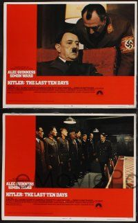8y281 HITLER: THE LAST TEN DAYS 8 LCs '73 Alec Guinness as Adolph, Doris Kunstmann as Eva Braun!