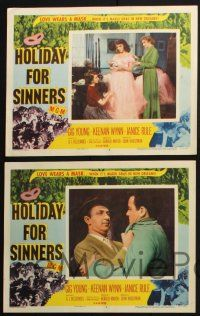 8y802 HOLIDAY FOR SINNERS 5 LCs '52 Gig Young, Keenan Wynn, Janice Rule, love wears a mask!