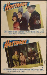 8y286 HOSTAGES 8 LCs '43 Luise Rainer, right out of Hitler's cracking Fortress Europe!