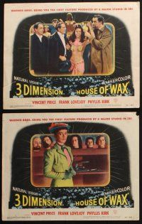 8y742 HOUSE OF WAX 6 LCs '53 Vincent Price, Phyllis Kirk, great horror images!