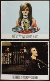 8y291 HOUSE THAT DRIPPED BLOOD 8 LCs '71 Christopher Lee, Peter Cushing, includes great art card!