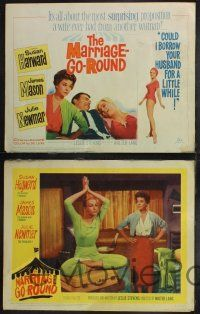 8y402 MARRIAGE-GO-ROUND 8 LCs '60 Julie Newmar wants to borrow Susan Hayward's husband James Mason!