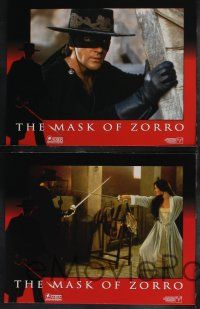 8y404 MASK OF ZORRO 8 LCs '98 Antonio Banderas, sexy Catherine Zeta-Jones, Anthony Hopkins!