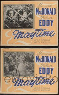 8y710 MAYTIME 7 Canadian LCs '37 cool images of sweethearts Jeanette MacDonald & Nelson Eddy!
