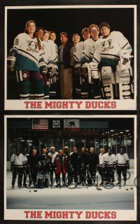 8y417 MIGHTY DUCKS 8 LCs '92 Walt Disney, Emilio Estevez, Joss Ackland, ice hockey!