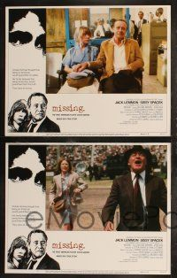 8y419 MISSING 8 LCs '82 Jack Lemmon, Sissy Spacek, directed by Costa-Gavras!