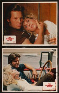 8y424 MORNING AFTER 8 LCs '86 Sidney Lumet, close-ups of Jane Fonda & Jeff Bridges!